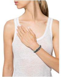 M.c.l  Matthew Campbell Laurenza - Metallic Amethyst & Pink Sapphire Enamel Bracelet Silver - Lyst