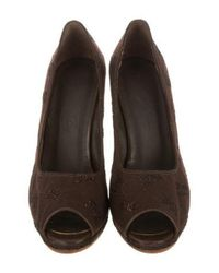 Rachel Comey - Brown Embroidered Peep-toe Pumps - Lyst