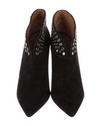 Aquazzura - Black Inga Embellished Ankle Boots - Lyst