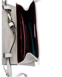 Paula Cademartori - Metallic Anna Leather Crossbody Bag Grey - Lyst