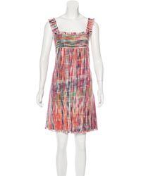 Chanel - Pink Tweed Shift Dress - Lyst