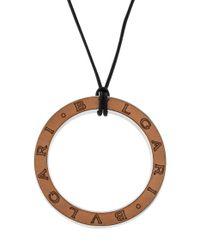 BVLGARI - Metallic Pendant Necklace Black - Lyst