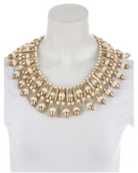 Tory Burch - Metallic Candelaria Bib Necklace Gold - Lyst