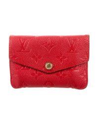 Louis Vuitton - Red Empreinte Key Pouch - Lyst