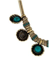 Giles & Brother - Metallic Shell Cabochon Chain Necklace Gold - Lyst