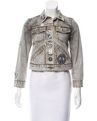 Marc Jacobs - Gray 2017 Embellished Denim Jacket Grey - Lyst