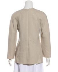 Ralph Rucci - Gray Silk Long Sleeve Top Grey - Lyst