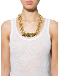 Chanel - Metallic Vintage Gripoix Necklace Gold - Lyst