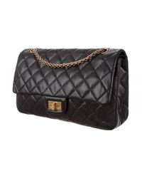 Chanel - Metallic Reissue 227 Double Flap Bag Black - Lyst