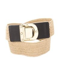 MICHAEL Michael Kors - Metallic Michael Kors Jute Buckle Belt Tan - Lyst