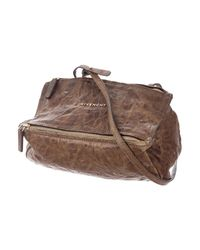 Givenchy - Metallic Mini Pandora Crossbody Bag Brown - Lyst