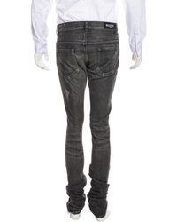 Balmain - Gray Distressed Skinny Jeans for Men - Lyst