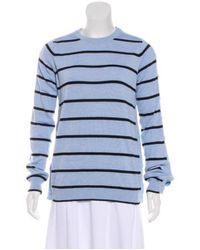 Preen By Thornton Bregazzi - Blue Striped Wool-blend Sweater - Lyst