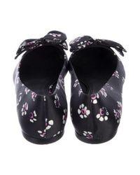 Tory Burch - Black Satin Pointed-toe Flats - Lyst