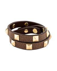 Tory Burch - Metallic Pyramid Stud Wrap Bracelet Gold - Lyst