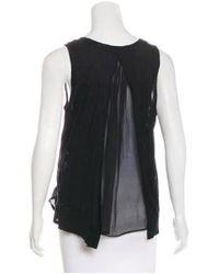 Thakoon - Black Sleeveless Jersey Top - Lyst