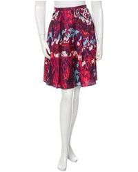 Peter Pilotto - Pink Printed Emma Skirt W/ Tags Magenta - Lyst