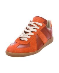Maison Margiela - Replica Low-top Sneakers Orange - Lyst