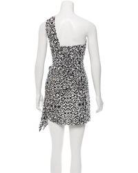 Isabel Marant | Black One-shoulder Ornate Print Skirt Set W/ Tags | Lyst