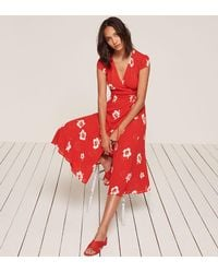 Reformation | Red Carina Dress | Lyst