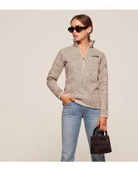 c0b420ec5 Lyst - Reformation Patagonia Better Sweater 1 4 Zip Fleece