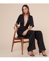 Reformation | Black Cannes Jumpsuit | Lyst
