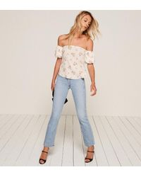 Reformation | White Pamplemousse Top | Lyst