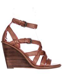 COACH - Brown Dawn Strappy Wedge Sandals - Lyst