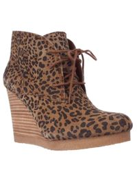 Lucky Brand | Brown Taheeti Wedge Booties | Lyst