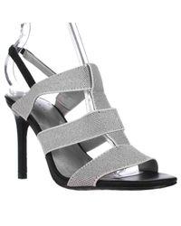 Tahari | Black Lola T-strap Slingback Sandals | Lyst