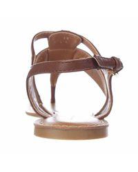 Tommy Hilfiger - Brown Lelah T-strap Flat Dress Sandals - Lyst