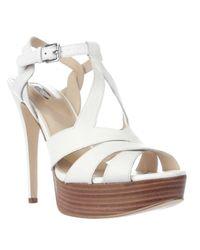 Guess | White Kymma Platform Sandals | Lyst