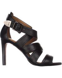 COACH - Black Ilona Strappy Heeled Dress Sandals - Lyst