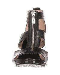 Michael Kors - Black Michael Berkley Floral T-strap Sandals - Lyst