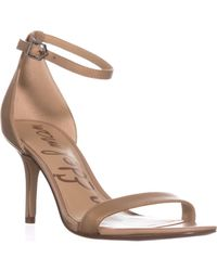 2d2ccaf58 Sam Edelman. Women s Natural Orient Express Patti Patent Leather  Ankle-strap Sandals