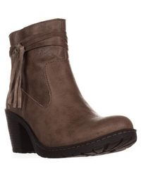 Born - Brown Alicudi Tassel Lug Sole Ankle Boots, Taupe - Lyst