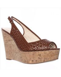 Nine West | Natural Axey Wedge Pumps | Lyst