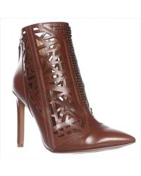 Nine West | Brown Toocute Cut-out Pointed Toe Ankle Boots | Lyst