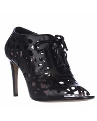 kate spade new york | Black Kate Spade Izarra Cut-out Lace Up Bootie Pumps | Lyst