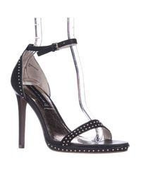 Steve Madden | Black Steven By Rogger Mini Stud Dress Sandals | Lyst