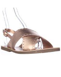 Lucky Brand | Natural Birchess Flat Slingback Sandals | Lyst