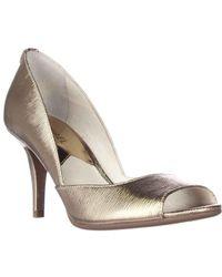 Michael Kors | Metallic Mk Flex D`orsay High Heel Court Shoes | Lyst