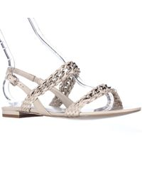Reiss | Multicolor Chiara Woven Chain Flat Sandals | Lyst