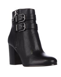 Via Spiga | Natural Briella Double Strap Buckle Ankle Boots | Lyst