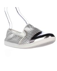 Easy Spirit | Metallic Damante Cap Toe Mesh Fashion Flats | Lyst