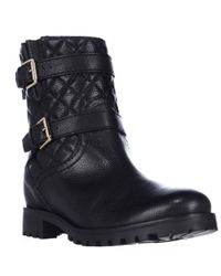 kate spade new york | Black Kate Spade Samara Quilted Motorcycle Boots | Lyst