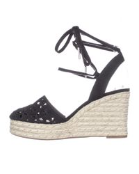 Michael Kors - Michael Darci Closed Toe Lace Up Wedge Espadrilles - Black - Lyst
