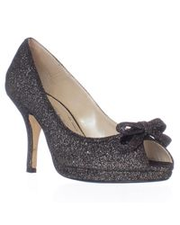 Caparros | Black Impulse Peep Toe Dress Heels | Lyst