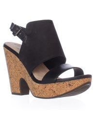 Naya - Black Misty Slingback Wedge Sandals - Lyst