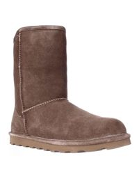 BEARPAW | Brown Elle Short Cold Weather Boots - Hickory | Lyst
